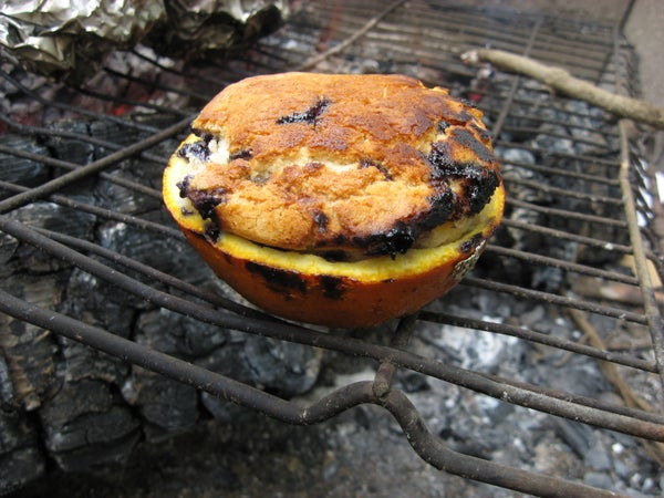 Orange Peel Campfire Muffin