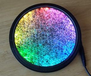 水晶玻璃珠和LED  - 一种万花筒