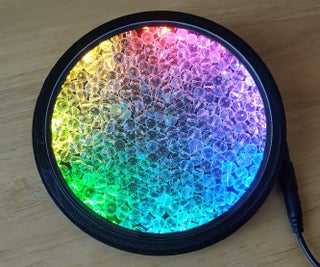Crystal Glass Beads and LEDs - a Kind of Kaleidoscope