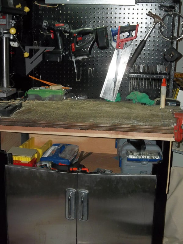 Workbench Made Out of a Barbecue