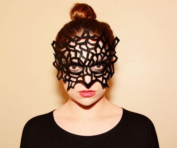 Leather Cutout Mask