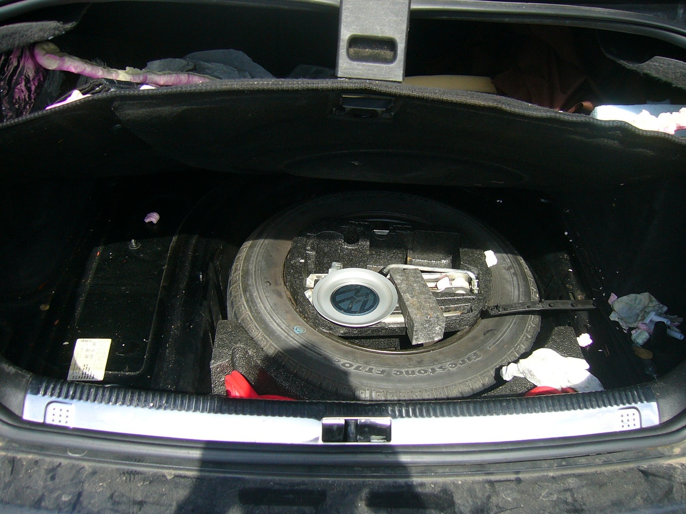 Clear Trunk Space Remove Spare