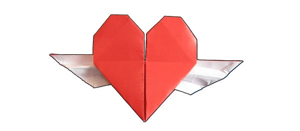 Origami Heart With Wings Tutorial