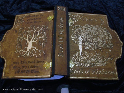 Engraved and Hand Painted Book of Shadows
