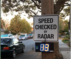 Low Cost Radar Speed Sign