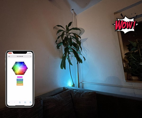 Wi-Fi Controlled RGB Mood Lamp - a Philips HUE Alternative