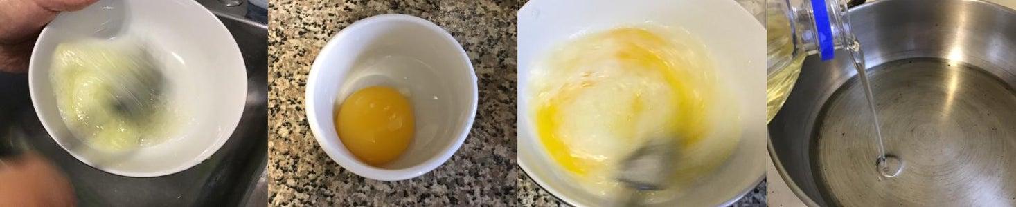 Preparing the Egg Coating and Pan