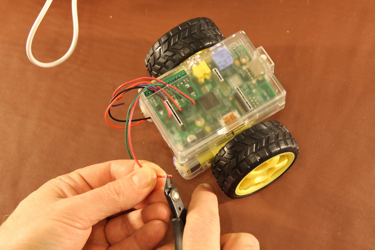 Solder the Wires to the Motors