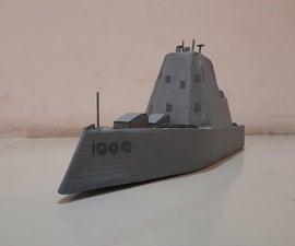 Cardboard Model Destroyer :USS Zumwalt
