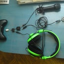 Xbox 360 music/headphone/mic rig