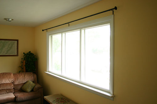 Make stylish yet inexpensive curtain rods
