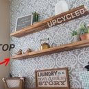 DIY Upcycled Floating Shelves