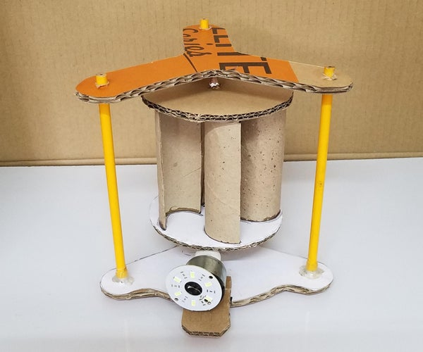 如何制作一个非常简单的Savonius风力涡轮机