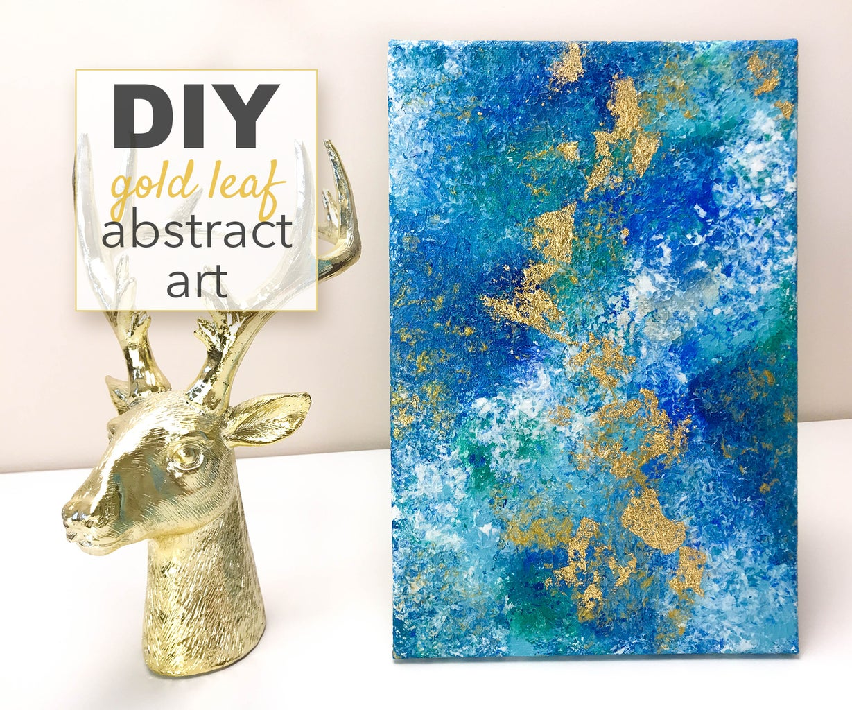 DIY Gold Acrylic Abstract Painting
