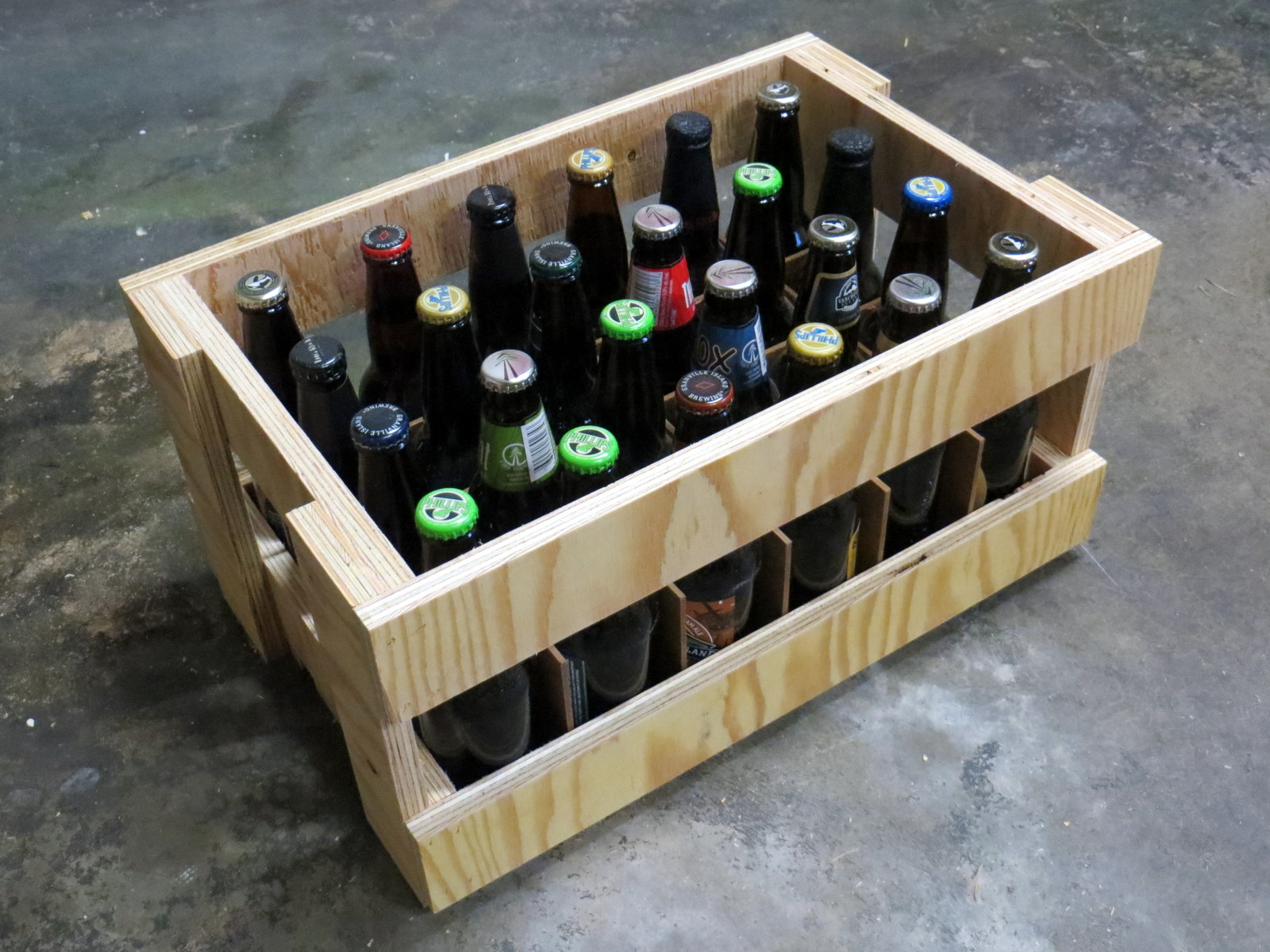 Plywood beer crate
