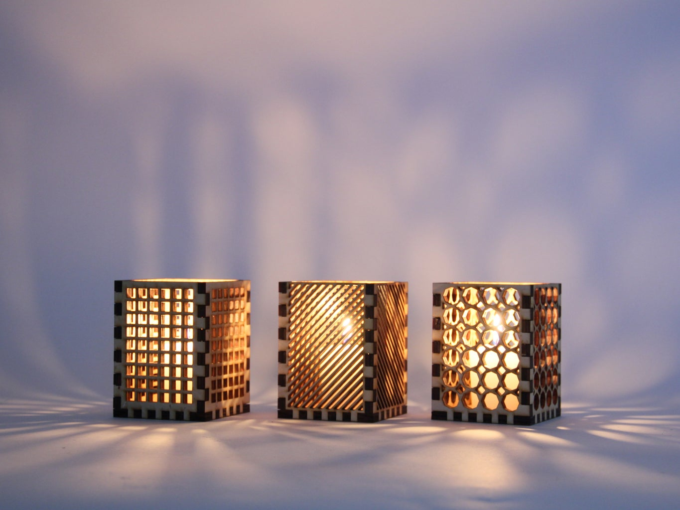 Laser Cut Candle Holders