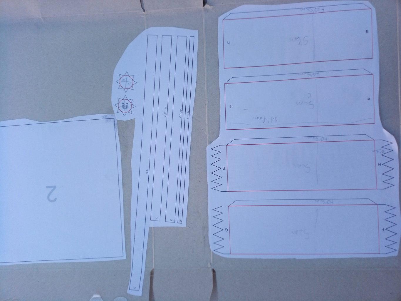 Glue the Templates on Cardboard