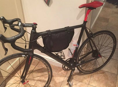 Old Backpack to Bicycle Frame Bag