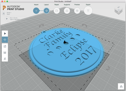 3D Printing the Eclipse Ornament