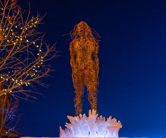 7-foot-tall Woman Wire Sculpture