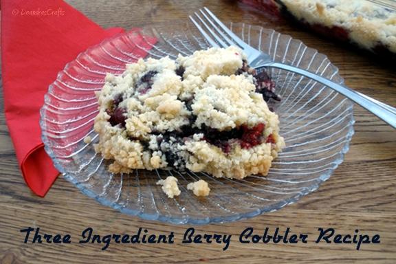 Easy Three Ingredient Berry Cobbler