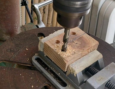 Vertical Part - Drilling the Jig Drill Bits Holes