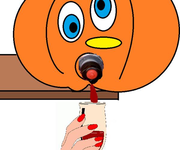 Halloween Box Wine Despenser!