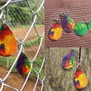 Tie Dye Melted Crayon Jewelry