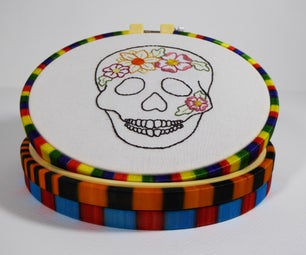 Wrap an Embroidery Hoop With Fishing Rod Nylon