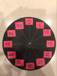 Divide the Circle Into 12 Fan-shaped With a Ruler and a Pen, Remember All the Spaces Have to Be the Equal Length.