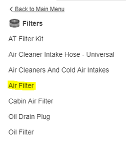 Finding and Buying the New Engine Air Filter.