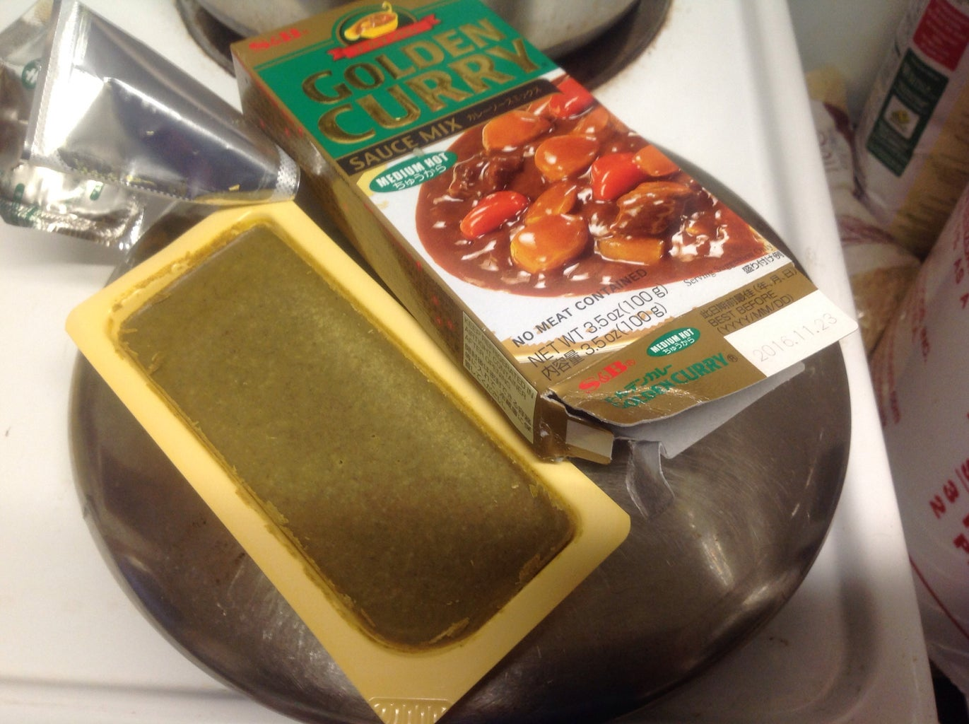 Adding in Curry Sauce Mix