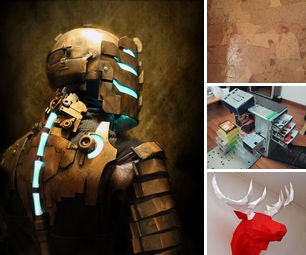 140323 - PC Case Toolbox, DEAD SPACE Cosplay, Paperbag Decoupage Floor