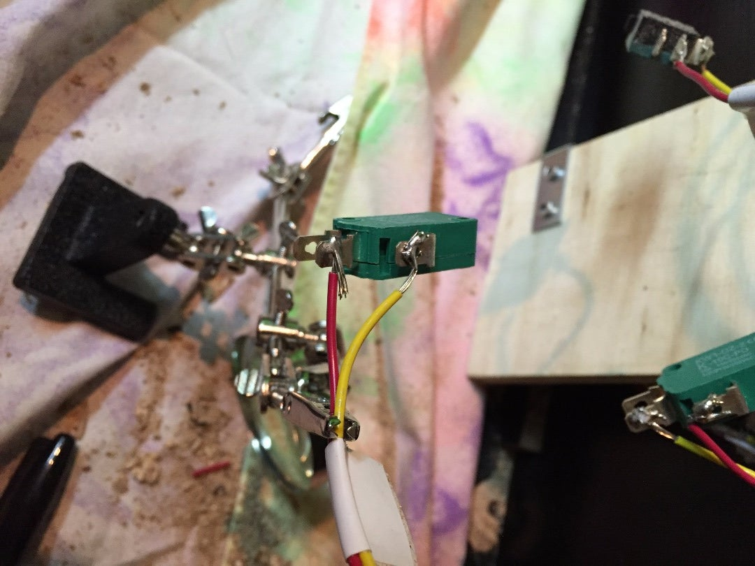 Solder Wires to Micro Switches