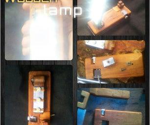 Wooden Battery Lamp