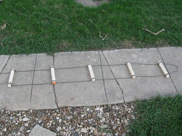 Paracord Ladder W/ Wooden Rungs