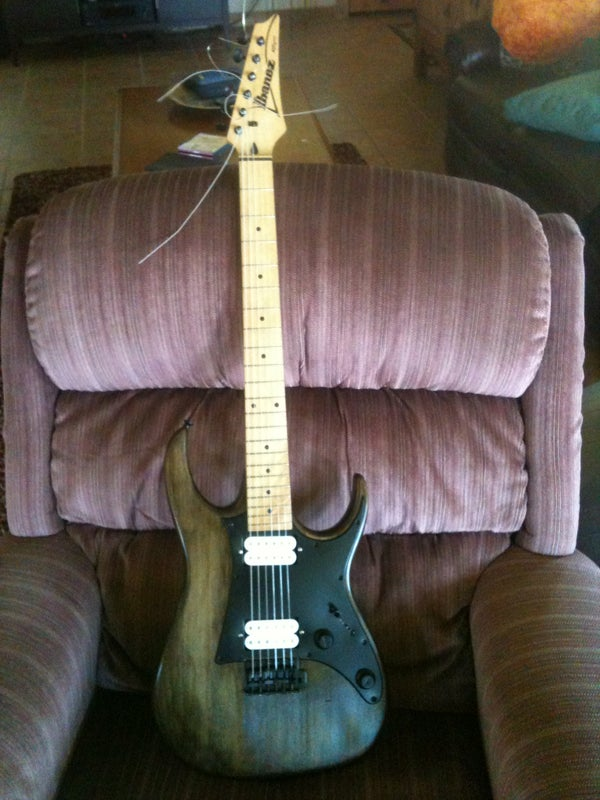 My Guitar That I Stripped, Sanded, and Stained