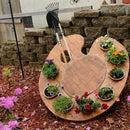 Paint Palette Garden Display