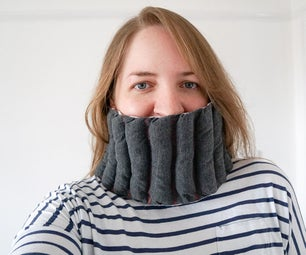 Cozy 'Bubble' Scarf   Snuggly Sewing Project