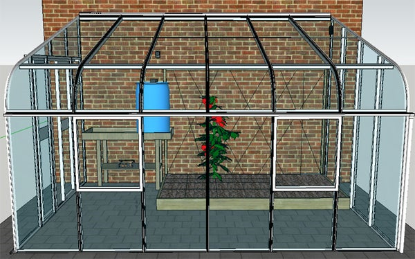 Self Regulating Greenhouse Powered by a Ready Set Solar Kit.