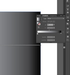 Step 4: Select the Gradient Panel