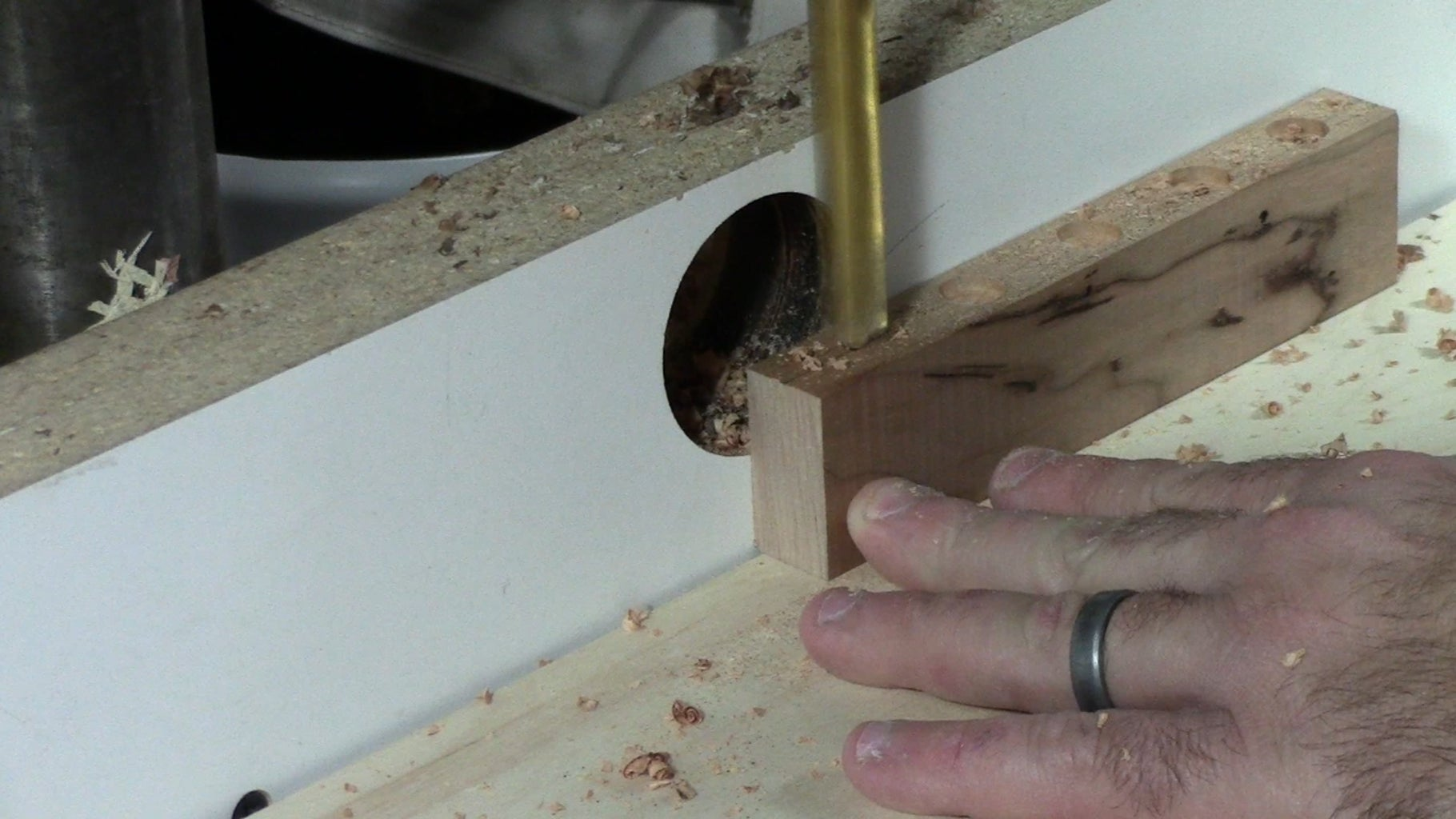 Lay Out and Drill the Holes for the Magnets.