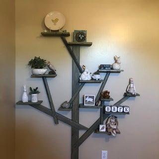 How to Make a Tree Shelf