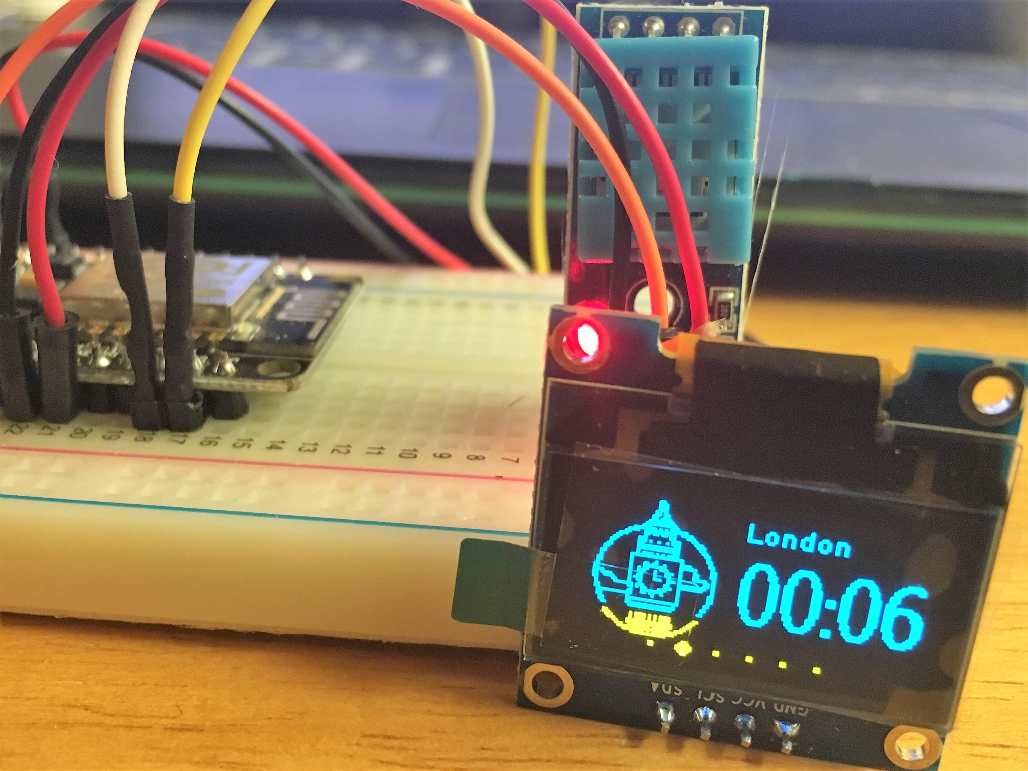 D-duino World Clock Test(Arduino&ESP8266)