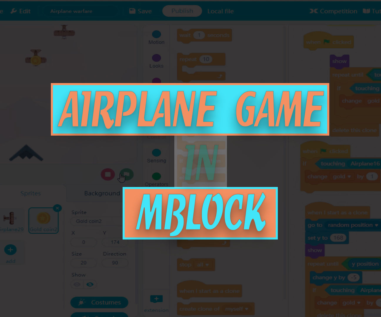 Airplane Warfare Game in MBlock