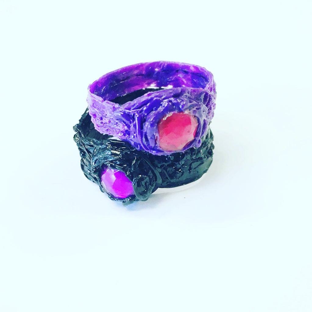 3Doodled Rhinestone Ring