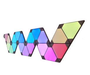 Panneau三角形led效应纳米叶50欧元9 panneaux