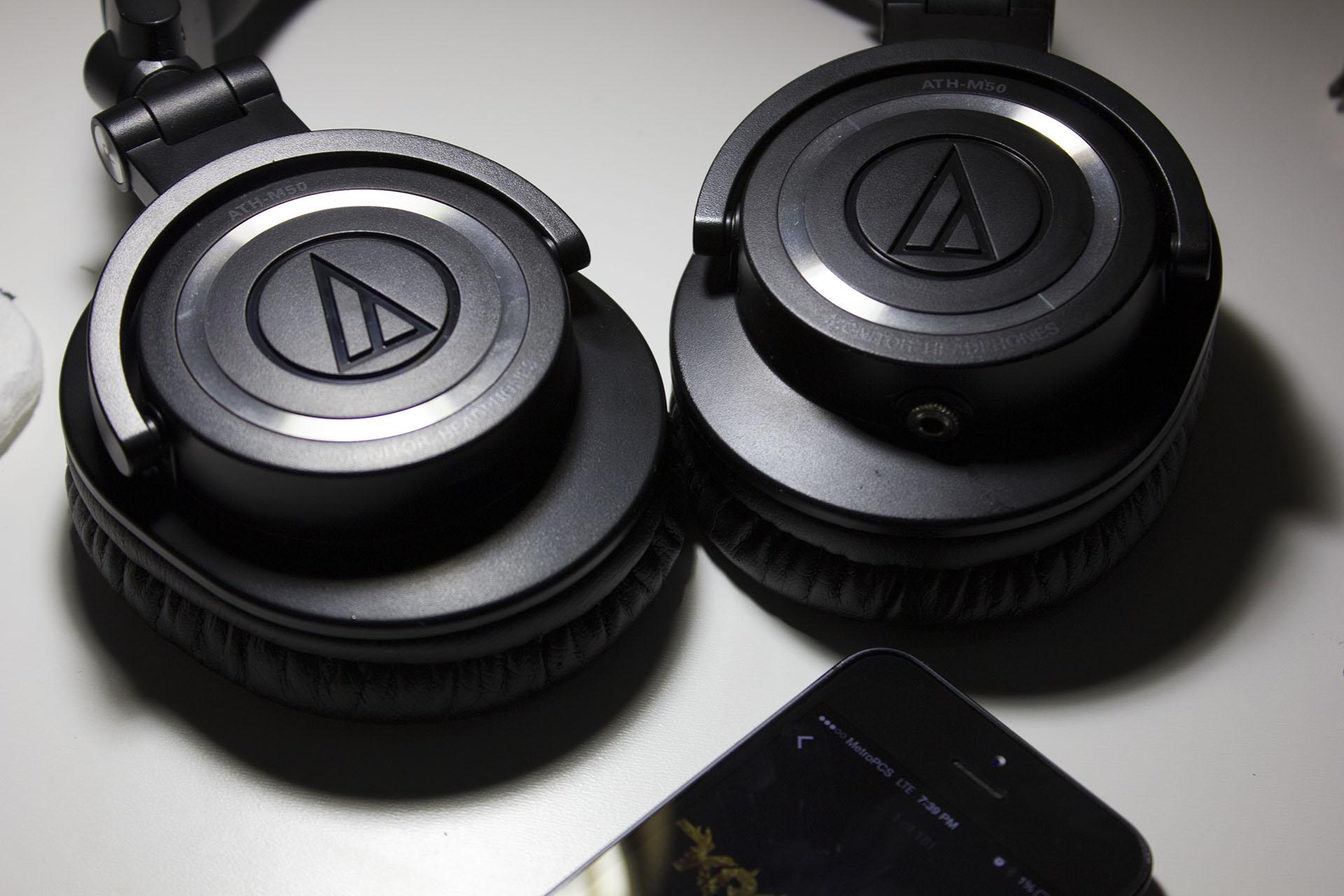Audio Technica ATH M50s removable cable mod