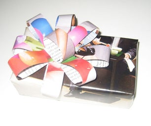ReWrap - Recycled Wrapping Paper and Bow From Scrap Paper