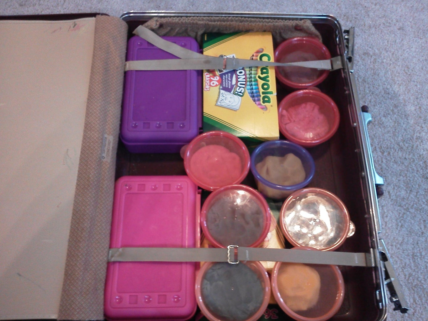 DIY Craft Storage Container (From Old SuitCase)